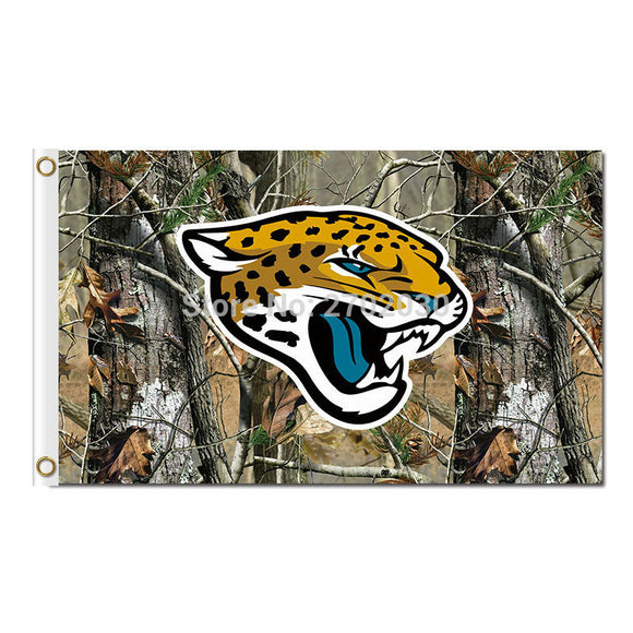 Jungle Camouflage Design Jacksonville Jaguars Flag Football Team World Series Super Bowl Champions Fans 3ft X 5ft Banners Flying