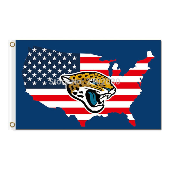 Us America Country Jacksonville Jaguars Flag Football Team World Series Super Bowl Champions Fans 3ft X 5ft Banner