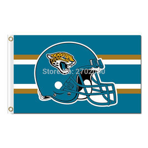Helmet Design Jacksonville Jaguars Flag Football Team World Series Super Bowl Champions Fans 3ft X 5ft Banner