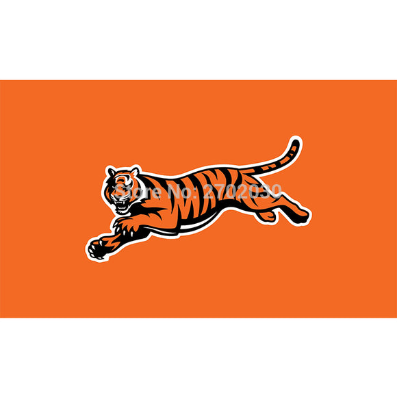 Orange Cincinnati Bengals Flag Super Bowl Champions Football Team Fan World Series 3ft X 5ft Banner 100D Polyester