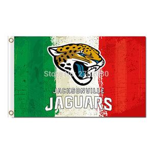 White Green Red Design Jacksonville Jaguars Flag Football Team World Series Super Bowl Champions Fans 3ft X 5ft Banners Flying