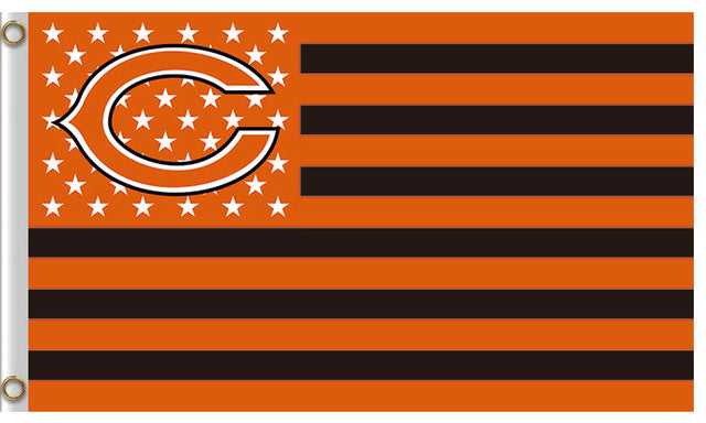 Us Star And Strip America Chicago Bears Flag Vs Denver Broncos Banners Football Team Flags 3x5 Ft Super Bowl Champions Banner
