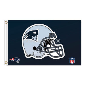Helmet New England Patriots Helmet Design Flag Football Banners 3ft X 5ft Banner Super Bowl Champions Custom Flag Nf*L