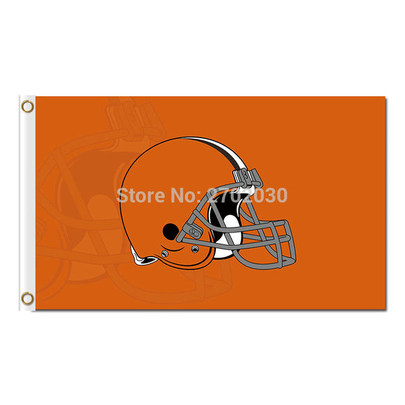 Orange Flags Cleveland Browns Flag Football Super Bowl Team World Series Champions Football Fans 3ft X 5ft Banner