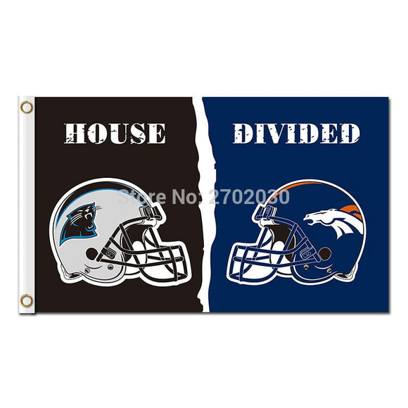 Carolina Panthers Flag Vs Denver Broncos Football Team 3ft X 5ft Banners Helmet Super Bowl Champions Carolina Panthers Banner