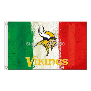Green White Red Minnesota Vikings Flag Football Team Super Bowl Champions 150 X 90 Cm Polyester Minnesota Vikings Banner