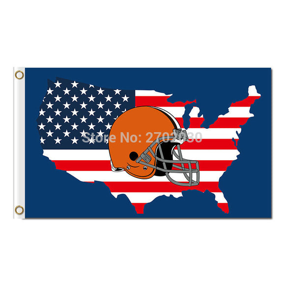 Us America Country Design Cleveland Browns Flag Football Team Super Bowl Champions World Series Football Fan 90 X 150 Cm Banner