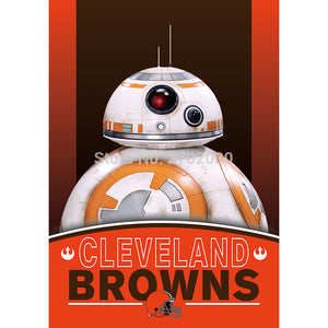 2pcs Cleveland Browns Flag World Series Football Team 27 X 37 Inch Banner Vertical Super Bowl Cleveland Browns Banner