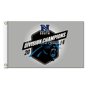 Division Champions South 2014 Carolina Panthers Flag Football Team 3 X 5ft Banner World Series Super Bowl Champions Custom Flag