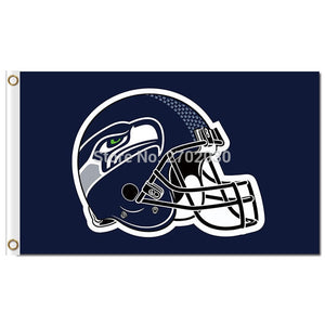 Seattle Helmet Flag World Series Football Team 3ft X 5ft Helmet Blitz Boom Banner Super Champions Flag