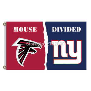 Atlanta Falcons Flag Vs New York Giants Banner Custom World Series Football Team 3ft X 5ft Falcons And Giants Banner Flag
