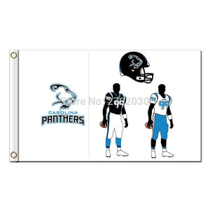 Carolina Panthers Design Flag Football Team 3ft X 5ft Banners Super Bowl Champions Helmet Carolina Panthers Banner