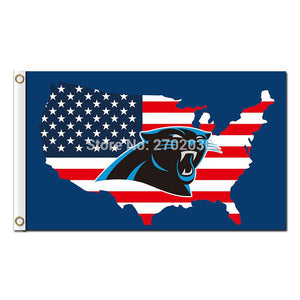 Us America Country Carolina Panthers Flag Football Team 3ft X 5ft Banner Super Bowl Champions Carolina Panthers Banner