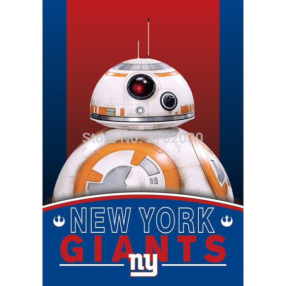2pcs New York Giants Flag World Series Football Team 27 X 37 Inch Banner Vertical Super Bowl New York Giants Banner Flag