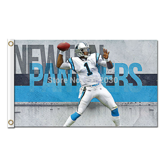 1 Carolina Panthers Flag Football Sport Team 90 X 150 Cm Banners Super Bowl Champions Banner Polyester Panther Banner
