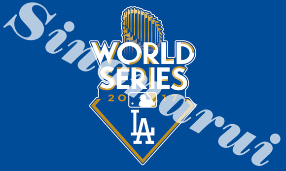Los Angeles Dodgers Baseball Team Durable Banners 100D Polyester 90x150CM World Series Champion Flags Banners
