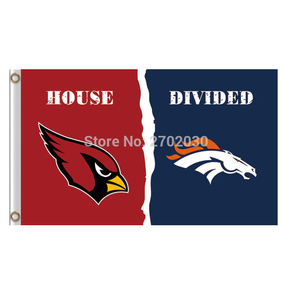 Red Arizona Cardinals Flag Vs Denver Broncos Banners Super Bowl Champions Fan Cardinals And Broncos Flag