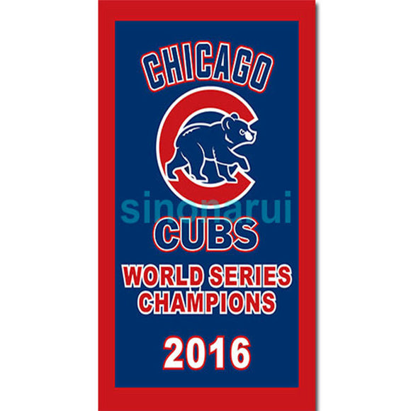 Chicago Cubs Championship Flag 3ft X 5ft Banner 100D Polyester Flag Metal Grommets Factory 2016 World Series Champions 1908 1907
