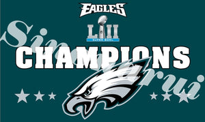 6024aec4ed5 Philadelphia Eagles America Football Champion Superbowl 2018 Custom Digital  Print Flags Banners White Sleeve Gromets 90