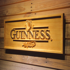GUINNESS Ale Beer 3D Wooden Sign