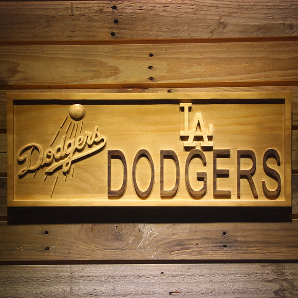 Los Angeles Dodgers 3D Wooden Sign