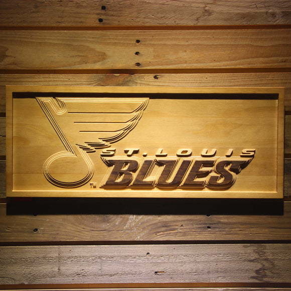 St. Louis Blues 3D Wooden Sign