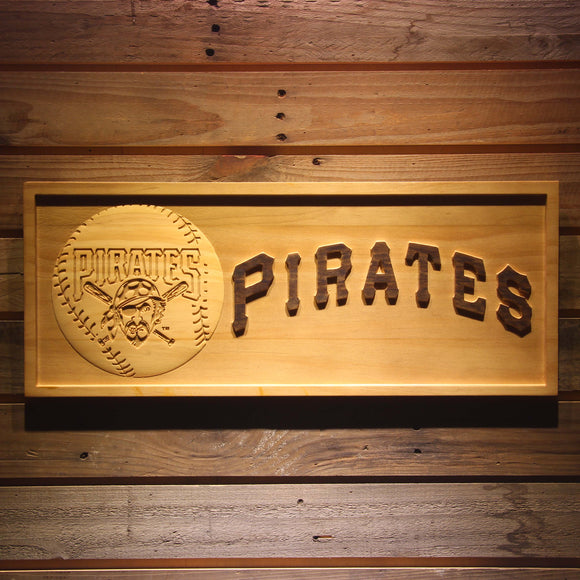 Pittsburgh Pirates 3D Wooden Bar Sign