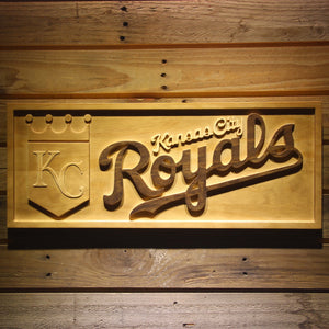 Kansas City Royals 3D Wooden Sign