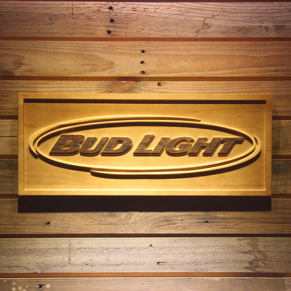 Bud Light 3D Wooden Sign