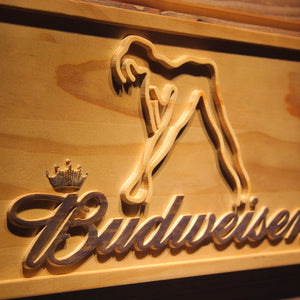 Budweiser Exotic Dancer Stripper Bar 3D Wooden Sign