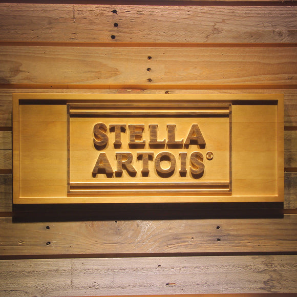 Stella Artois Beer 3D Wooden Sign