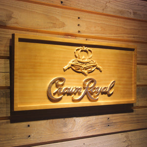 Crown Royal Beer 3D Wooden Sign