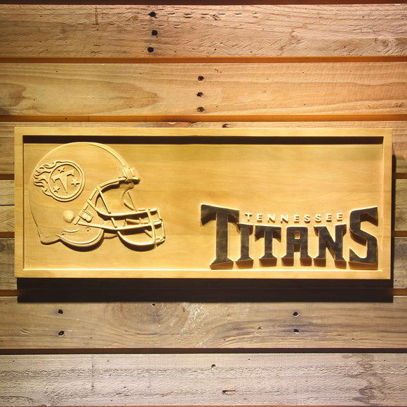 Tennessee Titans Helmet 3D Wooden Bar Sign
