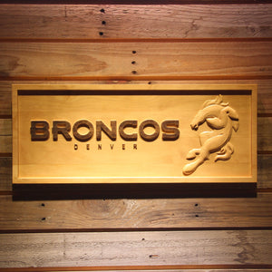 Denver Broncos 3D Wooden Bar Sign