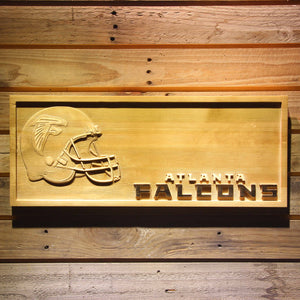 Atlanta Falcons Helmet Beer 3D Wooden Bar Sign