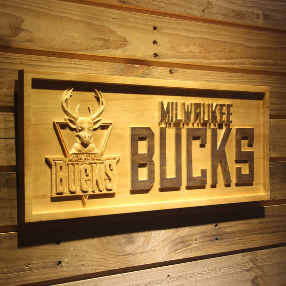 Milwaukee Bucks 3D Wooden Sign