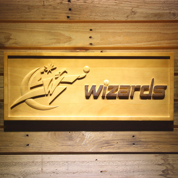 Washington Wizards 3D Wooden Sign