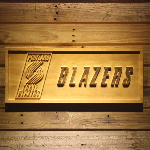 Portland Trail Blazers 3D Wooden Sign