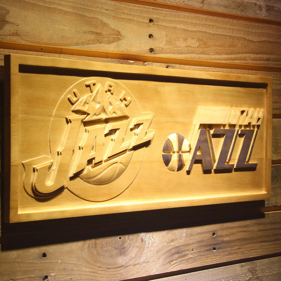 Utah Jazz 3D Wooden Sign
