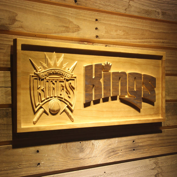 Sacramento Kings 3D Wooden Sign