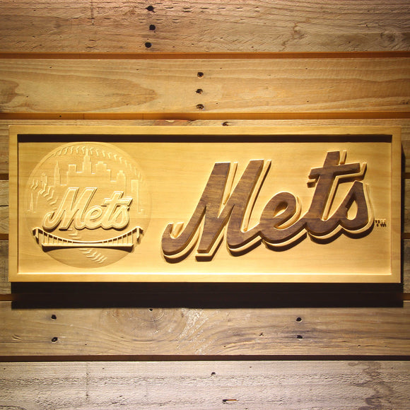 New York Mets 3D Wooden Sign