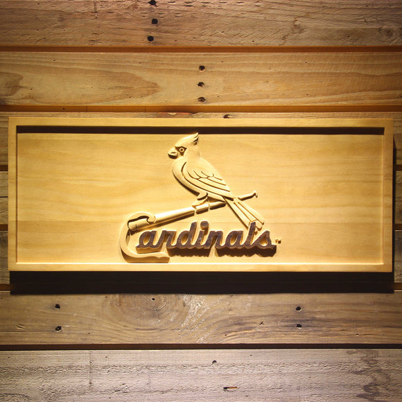 St. Louis Cardinals 3D Wooden Sign