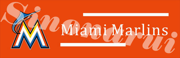 Miami Marlins Baseball Team Tailgate Banners Flags Customized Hanging Flag 110g Knitted Polyester With Gromets 60*240cm