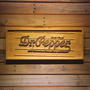 Dr Pepper Beer 3D Wooden Bar Sign