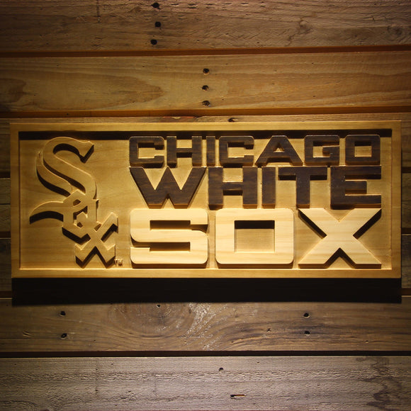 Chicago White Sox 3D Wooden Sign