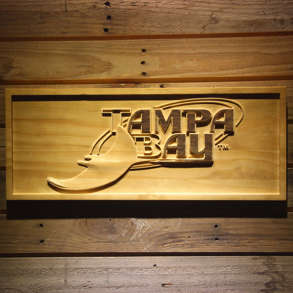 Tampa Bay Devil Rays 3D Wooden Sign