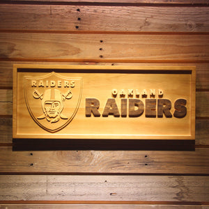 Oaklano Raiders 3D Wooden Bar Sign
