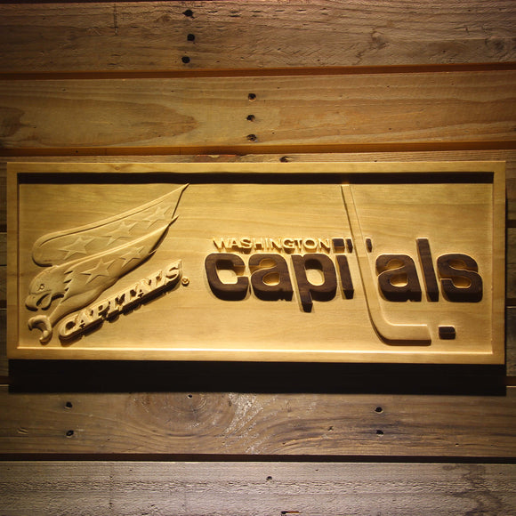 Washington Capitals 3D Wooden Sign