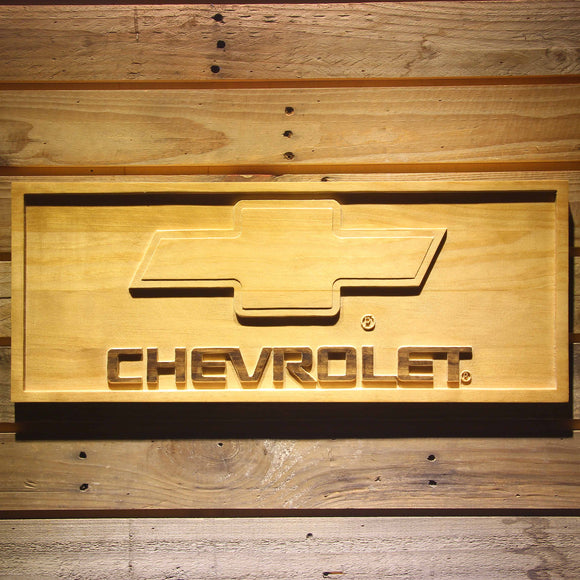 Chevrolet Beer 3D Wooden Bar Sign