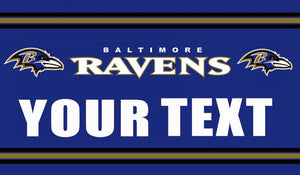 Faelan Briggs Baltimore Ravens Flag Football Team Super Bowl Champions 90x150 Cm Polyester Printed Banner